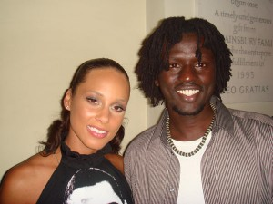 Emmanuel Jal and Alicia Keys